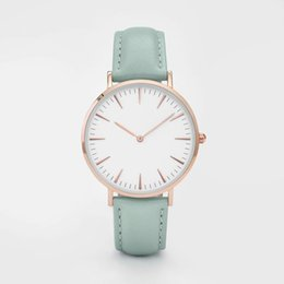 Wholesale Tan Color Dresses - Brand Leather aaa Strap Watches Women Dress Watch Relogio Ladies Wristwatches Clocks Designer Ladies Gift cluse Quartz Watch Reloj