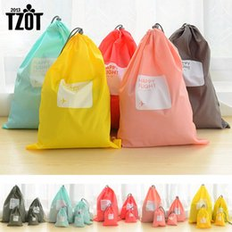 Wholesale Travel Storage Bags For Shoes - Wholesale- Hot 4pcs lot Waterproof Storage Bags For Travel Shoe Laundry Lingerie Makeup Pouch For Cosmetic Underwear Organizer