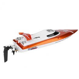 Wholesale Toy Boat Races - Wholesale- 2Colors 2.4GHz 4Channel Remote Control Speedboat Racing RC Speed Boat Toy Model High Quality 30km h High Speed Racing Boat