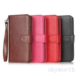 Wholesale Wholesale Horse Handbags - 9 Credit card slot Flip Leather case cover For iphone 6S 4.7 plus 5.5 6 samsung Galaxy S7 Edge stand crazy-horse