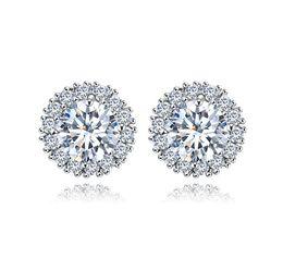 Wholesale Cz Ear Rings - Top quality copper AAA zircon Engagement Wedding Diamond Stud Earring CZ Simulated Diamonds Fashion Beautiful Fine Jewelry Diamod Ear rings