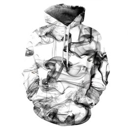 Wholesale Coat Smoking - New Fashion Men Women sweatshirt 3D hoodies Print Watercolor Dreamy Smoke Lines Thin autumn and winter coat Hooded Mens Hoodies vetements
