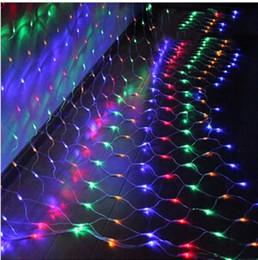Wholesale Led Mesh Christmas Lights - 3m*2m 200 LED Net Mesh Fairy String Light Christmas Wedding Party Fairy String Light with 8 Function Controller US UK EU AU Plug