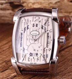 Wholesale Quartz Chronograph White Ceramic Watch - 2016 New Products Mens Chronograph Fleurier Quartz Watch Men White Skeleton Dial Date Watches Leather Sport AAA Wristwatches