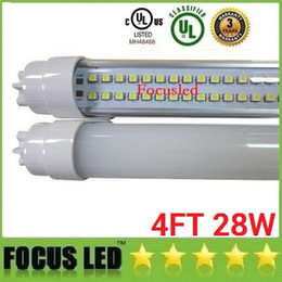 Wholesale Cree Led Replacement - 22W 28W 4ft Led Tubes Double Rows 192LEDs T8 Led Light Tubes Replacement regular Tubes Light AC 110-240V
