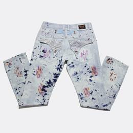 Wholesale Men Khaki Trousers Designer - Men's Robin Jeans Designer Men Jeans Cowboy Male Denim Pants Trousers Fashion Skinny Casual Jeans Plus Size BBF0431