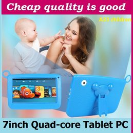 Wholesale Tablet Bluetooth Cam - hot 7 inch Quad Core 1024*600 Dual Cam kid Tablet PC 512MB RAM 8GB ROM Wifi Bluetooth come with case