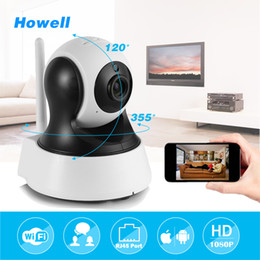 Wholesale Mp Cctv - Howell Surveillance Camera HD 960P mini IP Home Security Camera CCTV Wifi Mini Camera Baby Monitor Indoor IP Cam Two ways Audio Speaker