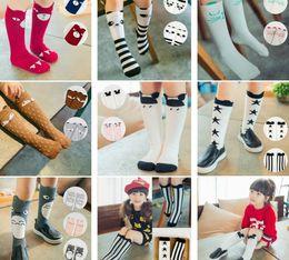 Wholesale Baby Socks Dhl - 20 Fashion Styles Autumn Winter Baby Children Boy Girl 0-6T Socks Warm Cartoon Fox Panda Cotton Long socks 10pair pack 100pairs free DHL