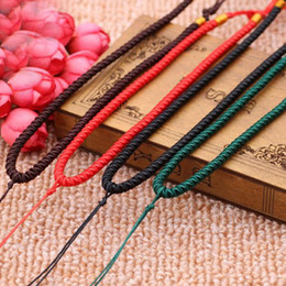 Wholesale Diy Accessories Bracelet Strings - 3 Pieces Pendant Lanyard Jewelry Rope String Colorful Cord For Bracelet Necklace DIY Jewelry Making Accessories