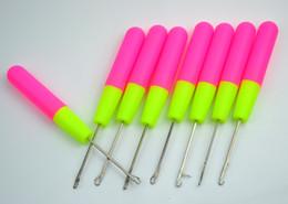 Wholesale Latch Hook Wholesale - 100pcs Hook Needles 15cm Professional Latch Hook Crochet Needle for weaving hair Jumbo Braids Braiding Hair and Dreadlocks Weaving 22