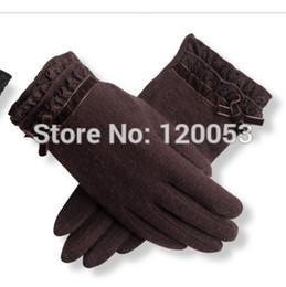 Wholesale Delicate Fingerless Gloves - Wholesale- High Class Women's Australia Merino Wool Gloves, Fashion Wool Gloves, Delicate Taste, 3 Colors Choice,Black, Grey, Coffee