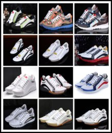 Wholesale Mens Casual Wedding Shoes - Italy Brand Hot Sale D2 Casual Shoes for Men Fashion DSQ2 Male Party Shoes Wedding Man Flat Leather Mens DSQ Shoes Sneakers Shoe