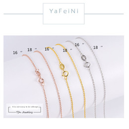 Wholesale Gold Quartz Necklace - Silver chain clavicle chain s925 sterling silver necklace female men's gold rose gold ornaments 18k gold o word chain wholesale