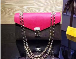 Wholesale New Crocheted Purse - 41201 New Orignal real leather fashion famous chain shoulder bag handbag presbyopic card holder purse evening bag messenger felicie M41201