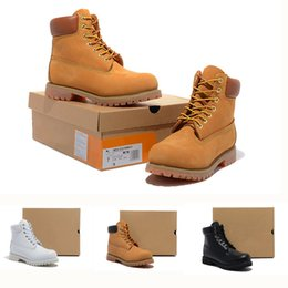 Wholesale Yellow Wedge Boots - Top Quality 10061 Wheat Big Yellow Boots Men's and Women's Work Snow Boots Waterproof Outdoor Shoes Martin Boots