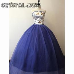 Blanc Robe De Bal Camo Robe Pleine Legth 15 Douce Fille Robe Robes De Quinceanera Sans Bretelles Bleu Robe De Bal 2017 ? partir de fabricateur