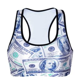 Wholesale Stretch Sport T Shirts - Wire Free Yoga T-shirt Bodybuilding Tank Tops Workout Jogging Bras Push Up Stretch Sports Vest 3D Print Quick Dry Women Wire Free LNSsb