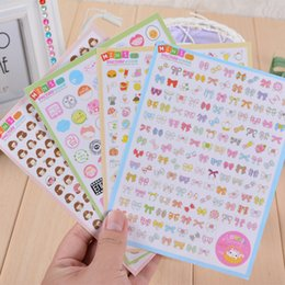 Wholesale Girls Sticker Album - Wholesale- 12 sheets lot Kawaii Stickers Decorative PVC Transparent+Paper Sticker Love Building Prop Bowknot Girl Stamp Album Diary Decor
