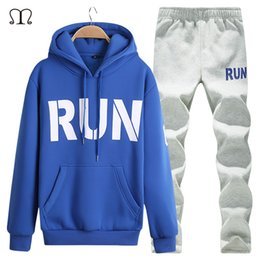 Wholesale Mens Sports Track Suits - Wholesale-Tracksuit Men Moletom 2016 Sportswear Winter Mens Sports Suits Clothing Track Suits Male Hooded Sweatshirts Men XXXXL Hoodies