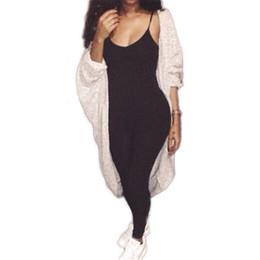 Wholesale Sexy Celeb - Wholesale-L&D New 2016 Celeb Spaghetti Straps Long Bodycon One Piece Jumpsuit Women Sexy Black Romper Sexy Club Bandage Plus Size