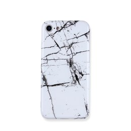 Wholesale Iphone Cases Stones - Fashion Marble Stone Case For iphone 6 Case For iphone 6S 7 7 Plus Classic Black White Marble Painted Phone Cases Cover