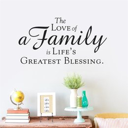 Wholesale Wall Stickers Bless - life greast blessing is Family love Wall Stickers Walls Vinyl Removable Murals Living room bedroom Decals