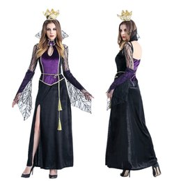 Wholesale Witch Costume Adult Xl - Cosplay adult Halloween costume vampire queen witch dress uniform DS costumes Party dance