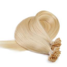 Wholesale Hair Nail Tips - Grade 7A--100% human remy hair Nail U tip in Hair extension with 18'', 1g Strand & 100g Lot