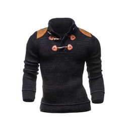 Wholesale Men S Turtle Neck Sweater - Fashion 2017 autumn winter turtle neck sweaters men polo brand Sweaters pullover long sleeve high quality cashmere sweater men WY05 RF