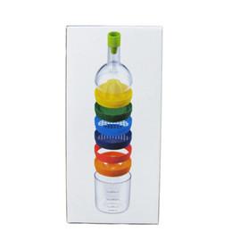 Exprimidor online-8 en 1 cocina herramientas multifunción huevo blanco separador rallador prensa de ajo licuadora BIN botella conveniente y rápida venta caliente 7cd J R