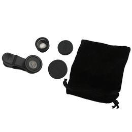 espelhos self stick Desconto Macro de Fisheye de 180 graus 2 em 1 montagem magnética da lente para os telefones móveis pretos