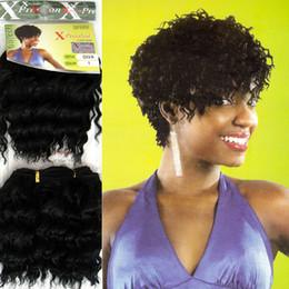 Extensões de cabelo curly sintéticas tecem on-line-Xpression tecelagem extensão do cabelo sintético x-press diva cabelo encaracolado WEFT 7.5 polegadas 25 PÇS / LOTE frete grátis
