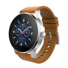 Wholesale Mobile Heart Rate Monitor - Round Smart Watch SMA - R Heart Rate Monitoring Smart Watch 1.3 Inch Waterproof IP54 Dual BT Touch Screen Mobile Wristwatch
