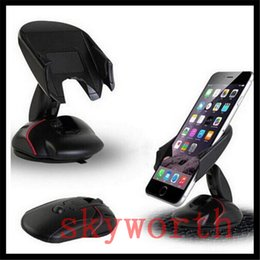 Wholesale Pda Clip - 360 Universal Car Windshield Cradle Phone Clip Mount Desktop portable mouse like Holder for Cell phone GPS PDA