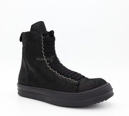 Wholesale long black round shoe laces - Factory Dark Tide shoes new list couple high-top heavy-bottomed leather boots increased Korean version of the retro long laces incense boot