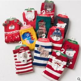 Wholesale Cute Baby Socks For Girls - Kids Christmas Socks For Baby Boys Girls FALL Winter Cute Animal Fox Snowmen Xmas Cotton Funny Socks Toddler Infant Ankle Socks Korea Sock
