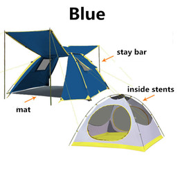 Wholesale Blue Hydraulics - By DHL Tent Opening Hydraulic Automatic Tent Camping Shelters Waterproof Sunny Double-deck Protective Outdoors Tents for 3-4 Person