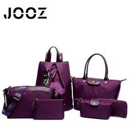 Wholesale Pocket Pc Wallet - Wholesale- JOOZ Brand Luxury Nylon Female Handbag 6 Pcs Set Composite Women Bags Shoulder Messenger Crossbody Bag Lady Purse Clutch Wallet