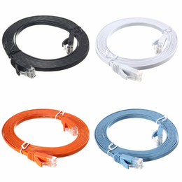 Wholesale Copper Ethernet Cable - High Speed 300CM Full Copper Cables Flat CAT6 Flat Cable RJ45 Computer LAN Ethernet Internet Network Cord