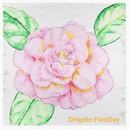 Silk painting flowers scarves canada best selling silk painting hand painted rose flower leaf pattern lady silk scarves scarf 60cm60cm small occupation mightylinksfo