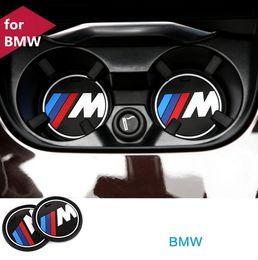 Wholesale Bmw Series Accessories - M Line Car Interior Accessories Anti Slip Cup Mat Car Decal Anti-Slip Mat for BMW 1 3 5 7 Series F30 F35 320li 316i X1 X3 X5 X6