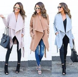 Wholesale Temperament Coats - Temperament Women Warm Fashion Hooded Long Coat Jacket Trench Windbreaker Parka Outwear Plus Size S-XL 3 Colors