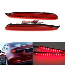 Wholesale Fog Lamp For Mazda - 2 PCS Car Styling Car Accessories LED Red Rear bumper reflector lights parking warning Brake Tail light fog lamp for Mazta 6