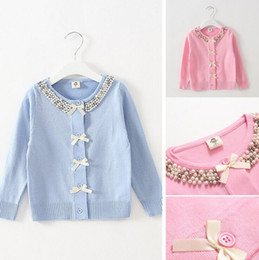 Wholesale Love Pink Clothing Sweaters - girls love sweet autumn spring thin coat cardigan children sweaters kids clothes fashion 2-6ages pink yellow
