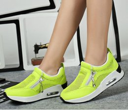 Wholesale Heavy Running Shoes - 2016 spring and summer women sports shoes breathable mesh running shoes, heavy-bottomed sporty casual flat shoes