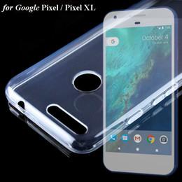 Wholesale Handbag Transparent Crystal - Ultra Slim Transparent Crystal Clear TPU Soft Case Cover For Google Pixel XL Phone Cases