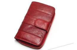 Wholesale Imported Photos - 2017 New Style Layer Of Import Oil Wax Cowhide Medium Paragraph Buckle Leather Wallet Women's High Quality Purse
