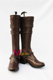 Wholesale Ao Cosplay - Wholesale-Ao no Exorcist Blue Exorcist Mephisto Pheles Cosplay Shoes Dark Brown Boots Custom-made