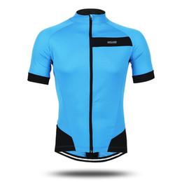 Wholesale Fluorescent Jerseys - Arsuxeo Men's Summer Short Sleeve Cycling Jersey Bike Bicycle Racing Shirt Full Zipper Clothing - Fluorescent Green Blue Red